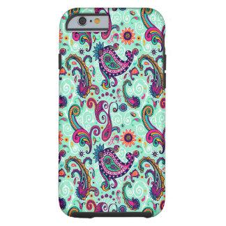 Pretty Mint Pink Paisley Bohemian Pattern Tough iPhone 6 Case
