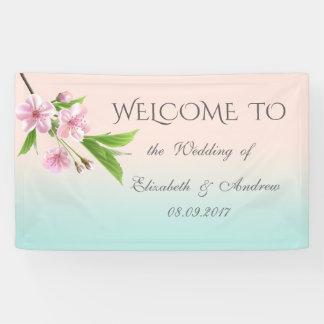 Pretty Modern Cherry Tree Wedding Banner
