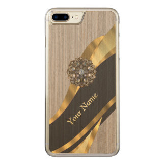 pretty modern faux wood carved iPhone 8 plus/7 plus case