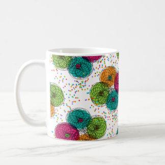 Pretty Modern Floral Pattern Basic White Mug