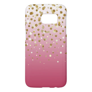 Pretty modern girly faux gold glitter confetti