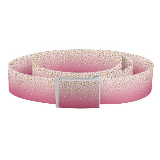 Pretty modern girly faux gold glitter confetti belt
