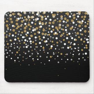 Pretty modern girly faux gold glitter confetti mouse mat