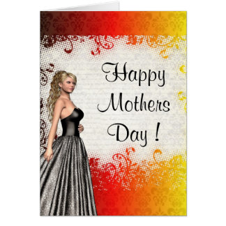 Pretty modern romantic mothers day card