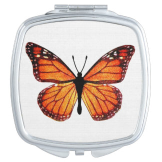 Pretty Monarch Butterfly Compact Mirrors