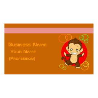 Pretty Monkey Pack Of Standard Business Cards