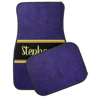 Pretty monogram eggplant cloth material fabric car mat