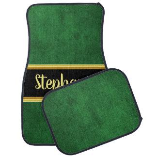 Pretty monogram green cloth material fabric car mat