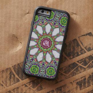 Pretty Monogram Purple White Daisy Flower Mosaic Tough Xtreme iPhone 6 Case