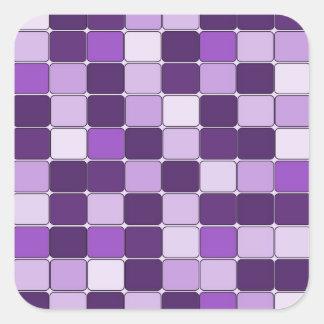 Pretty Mosaic Tile Pattern Purple Lilac Lavender Square Sticker