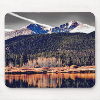 Pretty Mountains with Water Mouse Pad