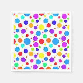 Pretty Multi Colored Spots Disposable Serviette