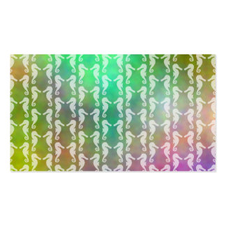 Pretty Multicolor Seahorse Pattern Design Pack Of Standard Business Cards