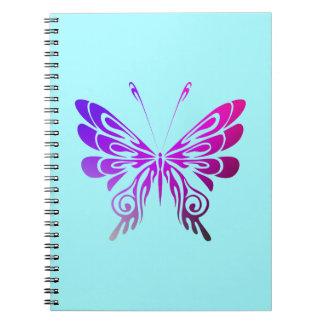 Pretty Multicolored Decorative Butterfly Note Book