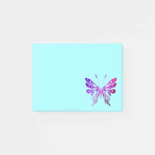 Pretty Multicolored Decorative Butterfly Post-it® Notes