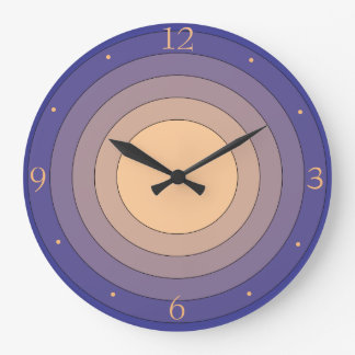 Pretty Multicolored Mauve and Lemon >Wall Clock