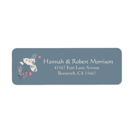 Pretty Multifloral Cream And Pink Return Address Label