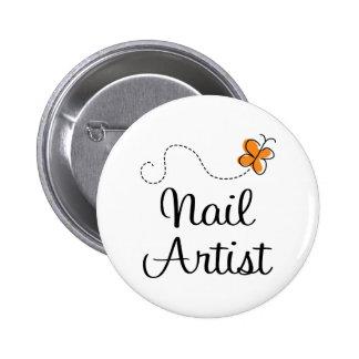 Pretty Nail Artist Gift 6 Cm Round Badge