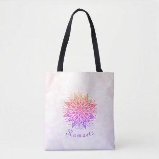 Pretty Namaste Mandala Tote Bag