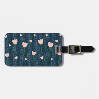 Pretty Navy and Pink Luggage Tag