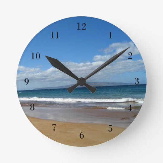 Pretty Ocean Tide Round Clock