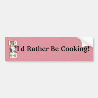 Pretty Old Fashioned Stove Flowers on Pink Bumper Sticker