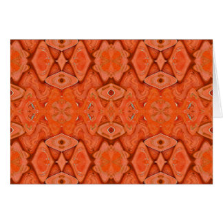 pretty orange greeting card