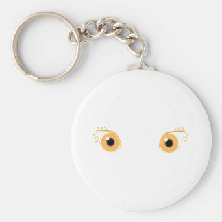 Pretty Orange Eyes Keychain