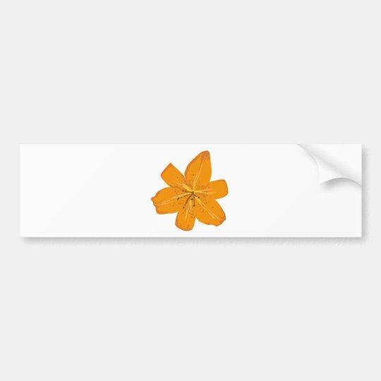 Pretty orange flower bumper sticker