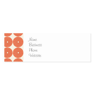 Pretty Orange Melon Circles Textured Disks Pattern Pack Of Skinny Business Cards