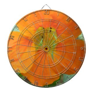 Pretty Orange Nasturtium Flower Dart Board