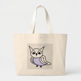 Pretty owl large tote bag