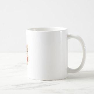 Pretty owl with a red heart coffee mug