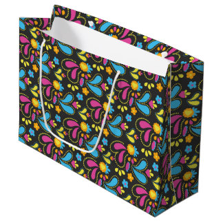 Pretty Paisley Floral Pattern Print Large Gift Bag
