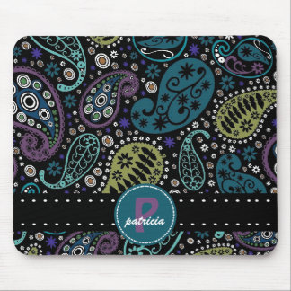 Pretty Paisley in Rich Peacock Colors Mouse Mat