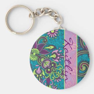 Pretty Paisley Keychain