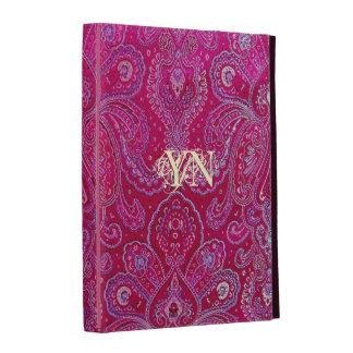 Pretty Paisley monogram iPad Folio Case