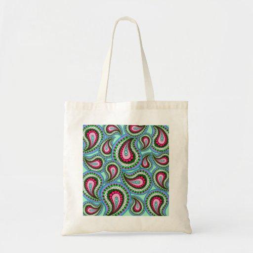 Pretty Paisley Tote Bag