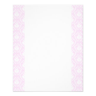 Pretty pale pink damask pattern with white. full color flyer