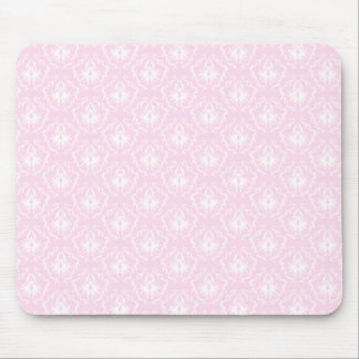 Pretty pale pink damask pattern with white. mouse mat