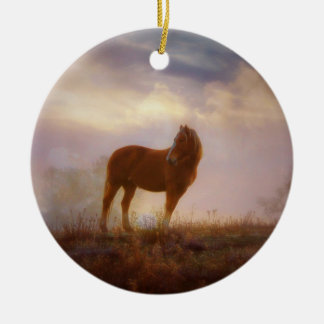 Pretty Palomino Mustang Ornament