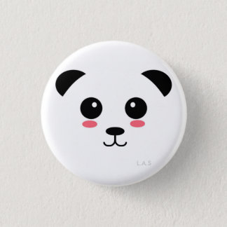 Pretty Panda 3 Cm Round Badge