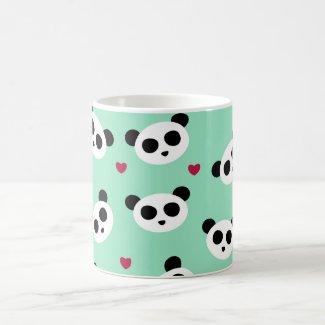 Pretty Panda Pattern Coffee Mug