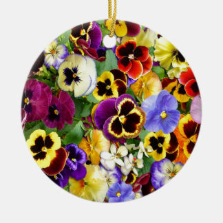 Pretty Pansies Christmas Ornament
