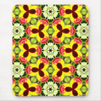 ~ Pretty Pansies in my Garden Fractal ~ Mouse Mat