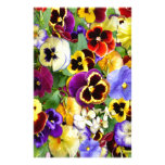Pretty Pansies Personalized Stationery