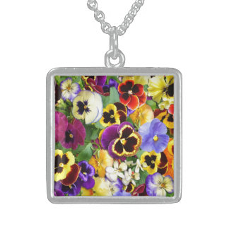 Pretty Pansies Sterling Silver Necklace