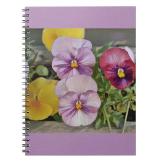 Pretty Pansy Notebook