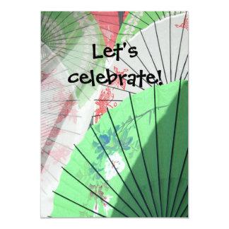 Pretty Parasol Invitations -- customise