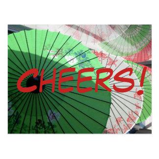 Pretty Parasol Postcard - customise